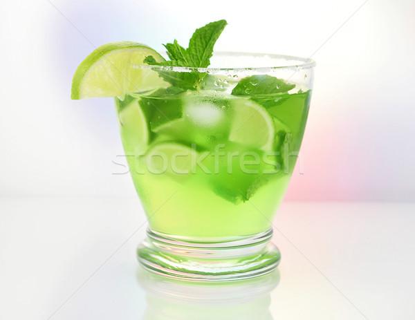 Bebida fria óculos frio fruto coquetel vidro Foto stock © saddako2