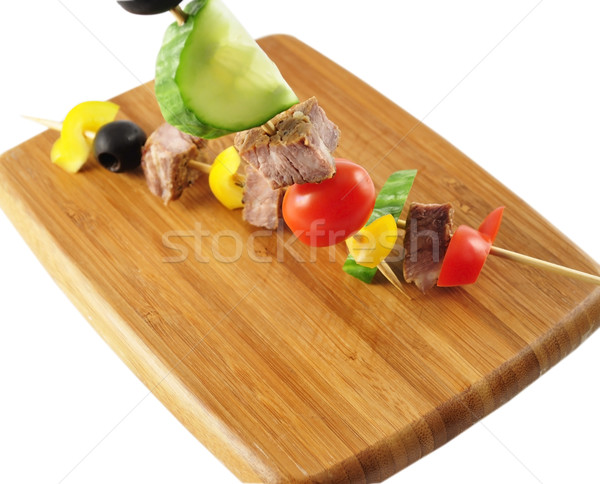 fresh beef steak with vegetables Stock photo © saddako2