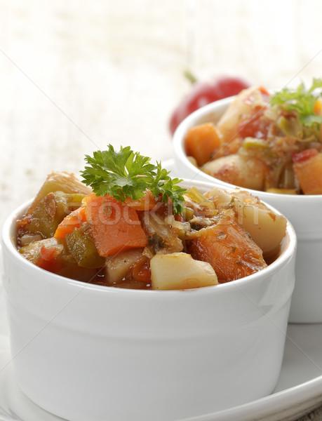 Zupa jarzynowa kręgle warzyw drewna warzyw pieprz Zdjęcia stock © saddako2