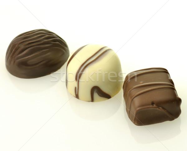Branco chocolate escuro comida chocolate fundo Foto stock © saddako2