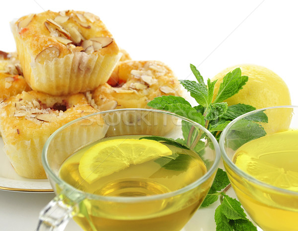 green tea and cupcakes Stock photo © saddako2