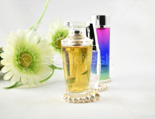 Set bellezza profumo perla fiori Foto d'archivio © saddako2