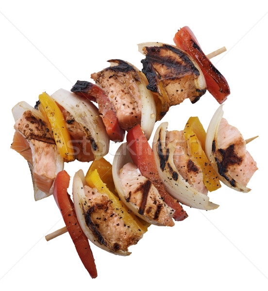 Salmon Kebabs Stock photo © saddako2