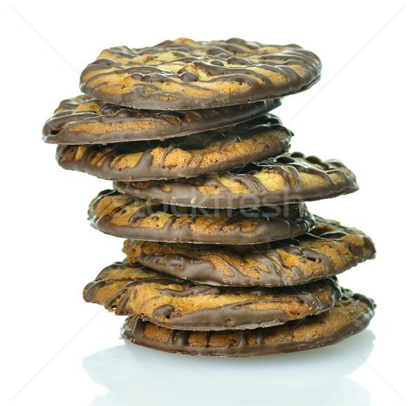Sütik diók csokoládé fehér chip dió Stock fotó © saddako2