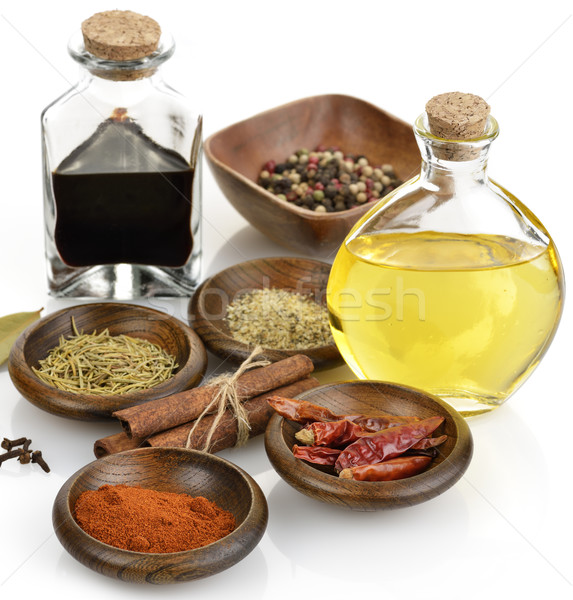 Olive Oil,Vinegar And Spices Stock photo © saddako2