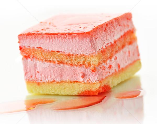 strawberry flavored layer cake Stock photo © saddako2