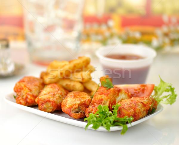 hot chicken wings  Stock photo © saddako2