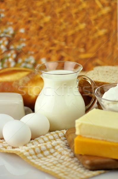 dairy products and Fresh eggs  Stock photo © saddako2
