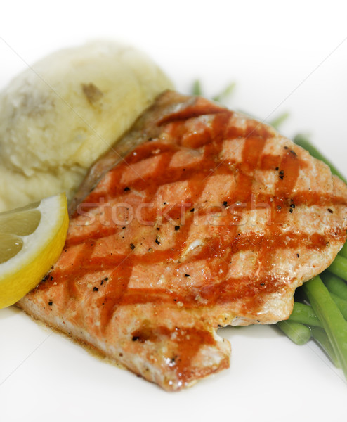 Stock photo: Salmon With Mashed Potatoes