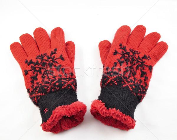 red winter gloves  Stock photo © saddako2