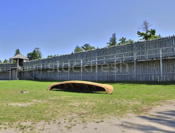 Sömürge kale güvenlik savaş tarih müze Stok fotoğraf © saddako2