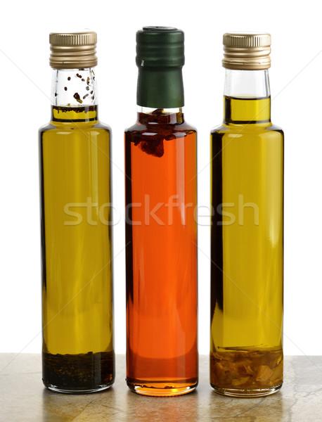 Aceite de cocina colección botellas hierbas especias alimentos Foto stock © saddako2