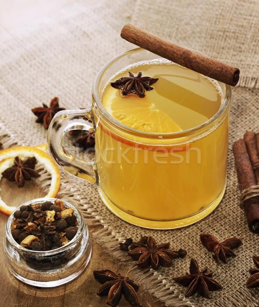 Appel cider hot specerijen glas beker Stockfoto © saddako2