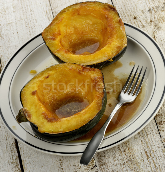 Gland squash cuit cassonade beurre bois Photo stock © saddako2