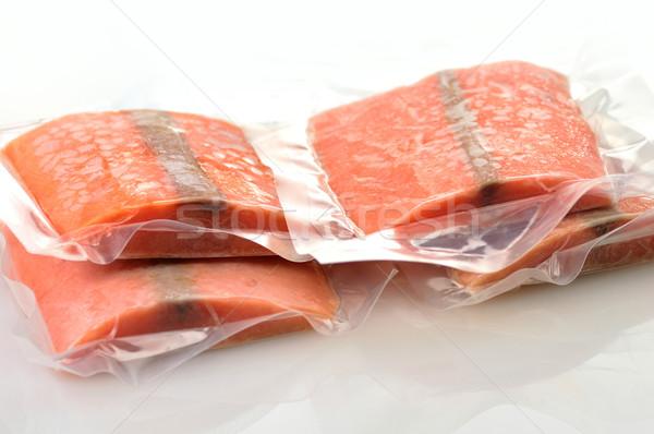 frozen salmon fillets Stock photo © saddako2