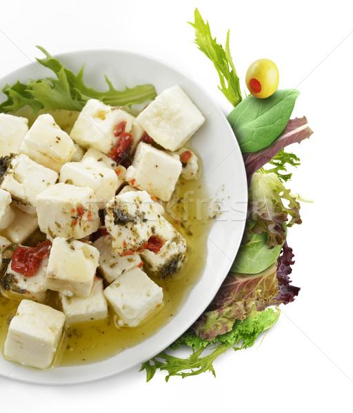 Olie kruiden olijfolie vers salade Stockfoto © saddako2