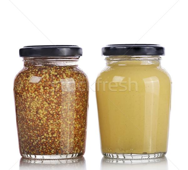 Mustard Sauce and Whole Grain Mustard Stock photo © saddako2