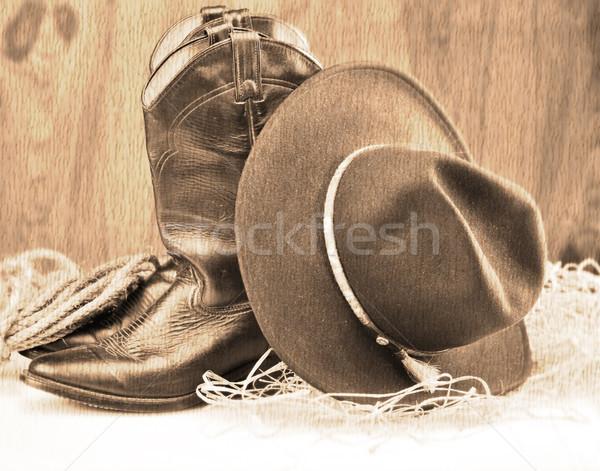 cowboy boots and hat Stock photo © saddako2