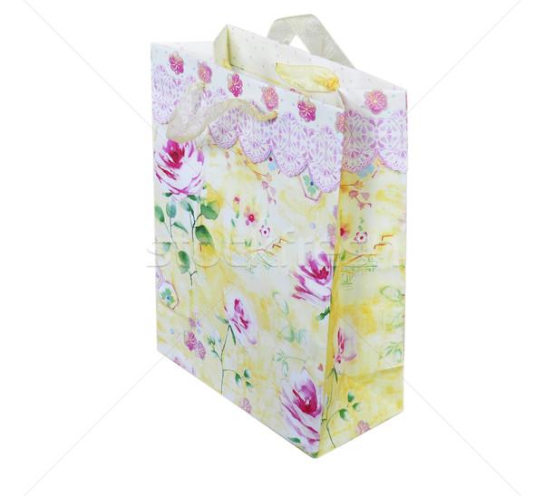 Colorato shopping bag bianco compleanno sfondo shop Foto d'archivio © saddako2
