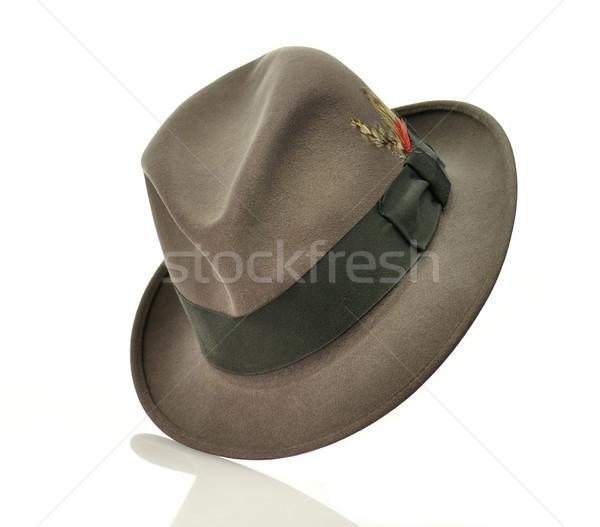 ストックフォト: ヴィンテージ · グレー · 帽子 · 黒 · 服