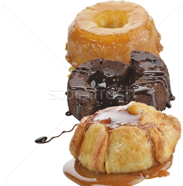 Gurmé torták izolált fehér étel desszert Stock fotó © saddako2