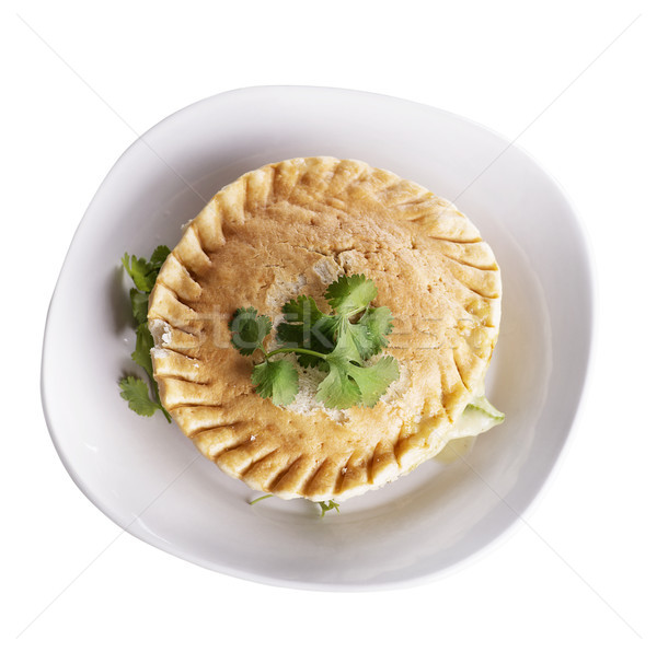 Chicken Pot Pie In A Plate Stock photo © saddako2