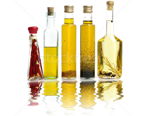 étolaj gyűjtemény fehér üveg bors egészséges Stock fotó © saddako2