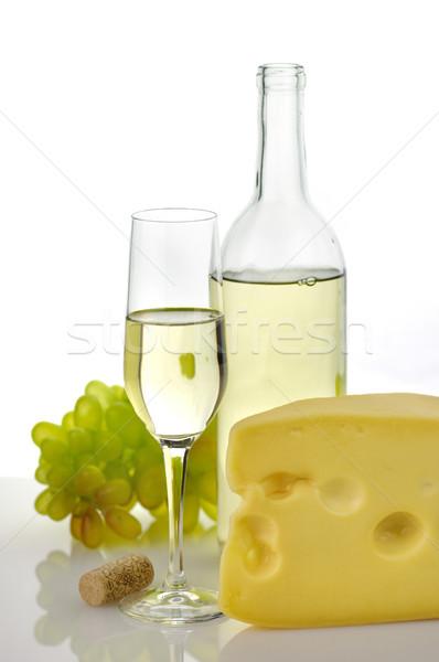 Bor sajt fehér ital üveg szőlő Stock fotó © saddako2