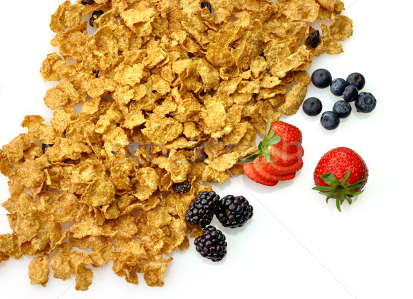 bran and raisin cereal with fruits and berries  Stock photo © saddako2