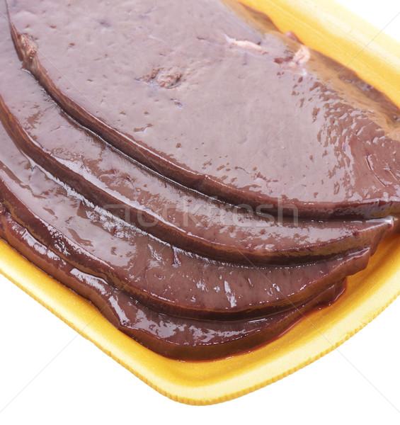 Raw Beef Liver Stock photo © saddako2