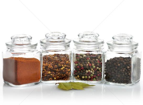 Fűszer válogatás üveg választás chili bögre Stock fotó © saddako2
