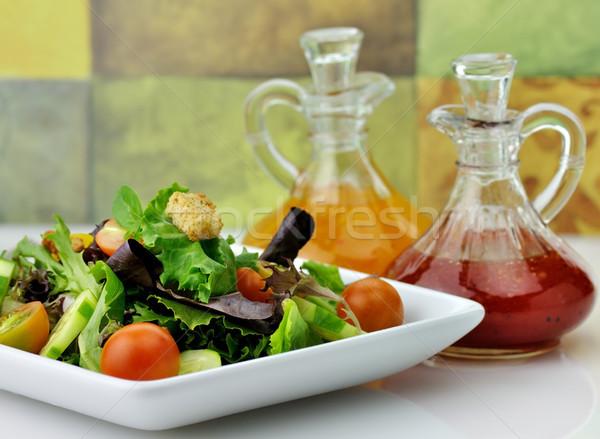 ストックフォト: サラダ · 自然 · 葉 · 緑 · プレート