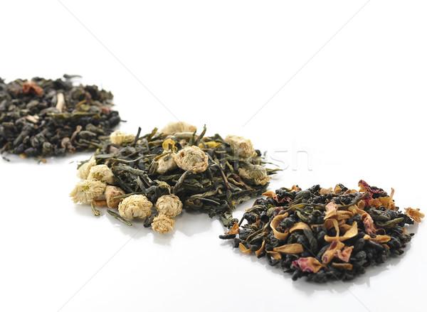 Sciolto tè varietà frutti fiori sfondo Foto d'archivio © saddako2