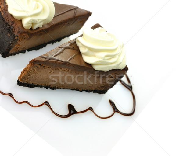 slices of chocolate cheesecake Stock photo © saddako2