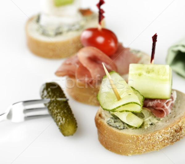 Antipasti affumicato carne verdura toast pasto Foto d'archivio © saddako2