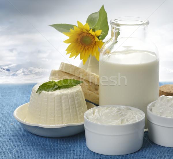 Milchprodukte Natur Brot Milch weiß Gericht Stock foto © saddako2