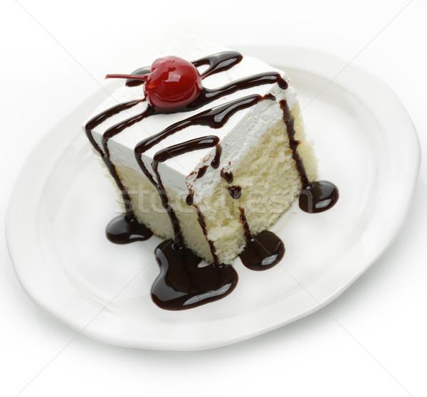 Torta fetta sciroppo ciliegio dessert Foto d'archivio © saddako2