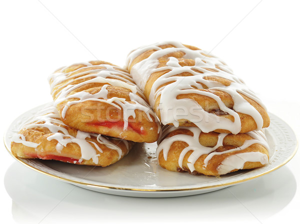 apple and strawberry danish Stock photo © saddako2