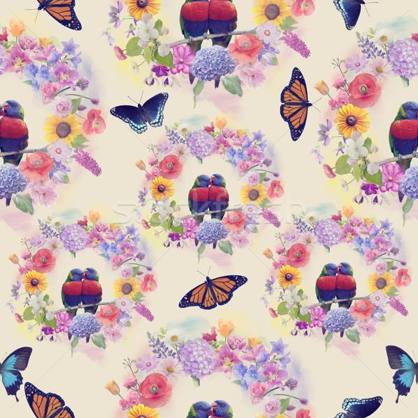 seamless  nature pattern Stock photo © saddako2