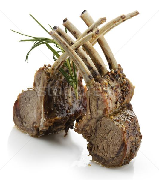 Cordeiro costelas branco carne Foto stock © saddako2