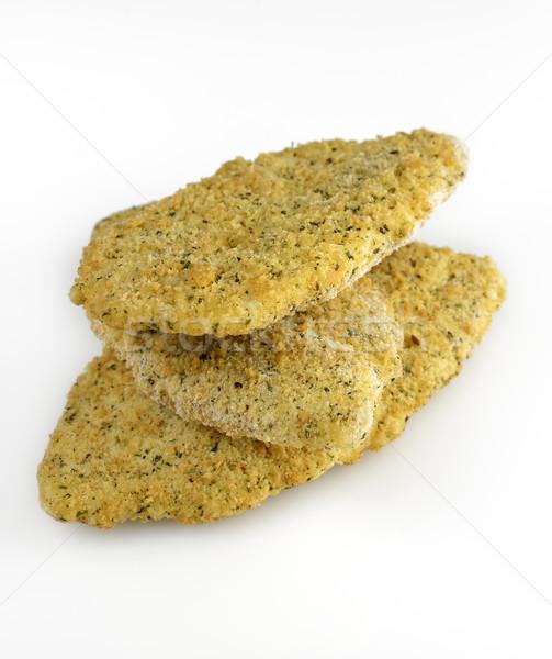Parmesão congelada queijo parmesão peixe refeição frutos do mar Foto stock © saddako2