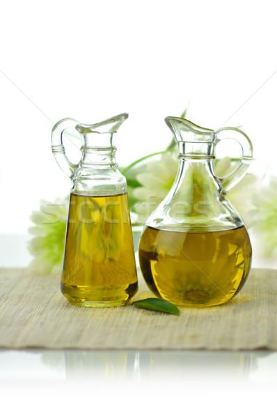 étolaj kettő üveg természetes étel levél Stock fotó © saddako2