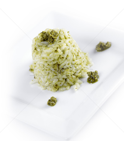 Risotto With Pesto Sauce Stock photo © saddako2