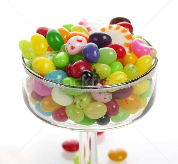 Zselés bab válogatás üveg cukorka desszert édesség Stock fotó © saddako2