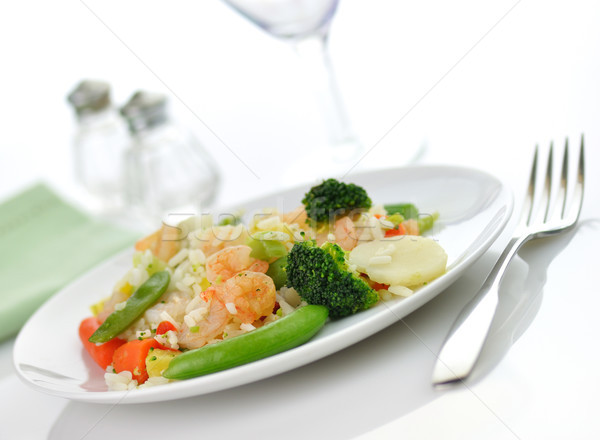Sweet кислый креветок обеда риса овощей Сток-фото © saddako2