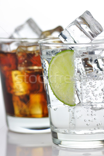 The sweet cooled drinks with ice Stock photo © saddako2