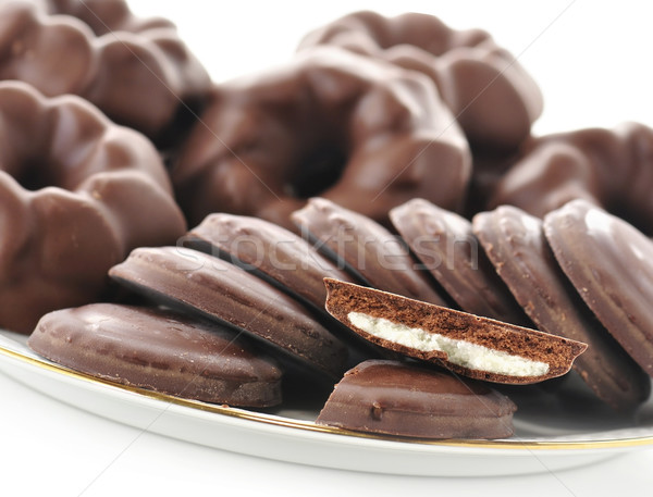 Fudge Chocolate Cookies Stock photo © saddako2