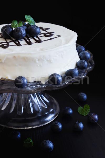 celebratory cake with white frosting  Stock photo © saharosa