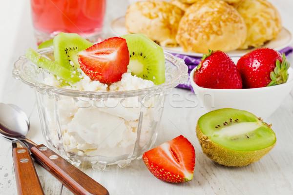 curd dessert Stock photo © saharosa