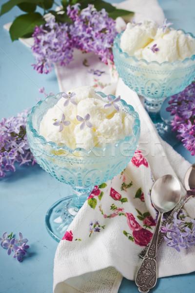 Ijs heerlijk Blauw bloemen Stockfoto © saharosa